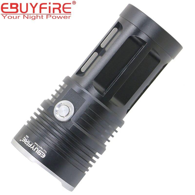 10T6 Flashlight 18650 <font><b>Torch</b></font> Lamp <font><b>led</b></font> flash light 20000LM 10T6 waterproof Lamp Lights Hunting lanterna (no battery