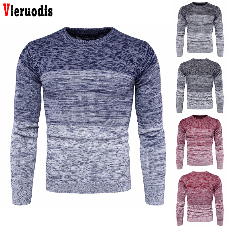 Men's Round Neck Warm Men Sweater Autumn Winter Clothing New Plus Size M-3XL Long Sleeve Pullover Sweater For Male Fashion
