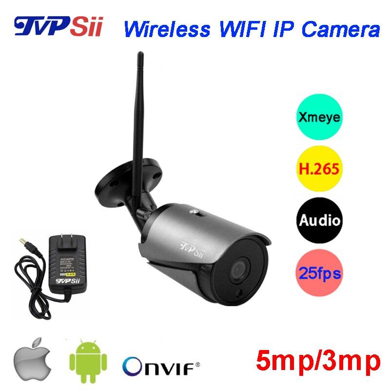 5MP/3MP Preto 36 pcs Leds Infravermelhos H 265 + ICsee 25fps 128 GB Áudio  ONVIF WI-FI Ao Ar Livre IP Sem Fio câmera de segurança Frete Grátis