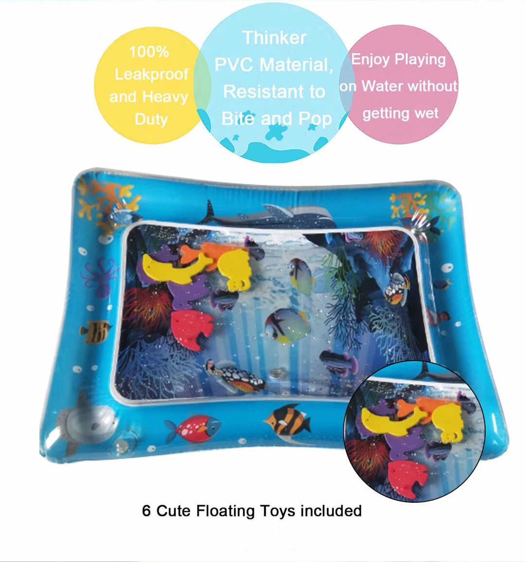 뜨거운 판매 아기 아이 물 놀이 매트 풍선 유아 Tummy 시간 Playmat 유아 아기 재미 활동 놀이 센터 DropshipTSLM1