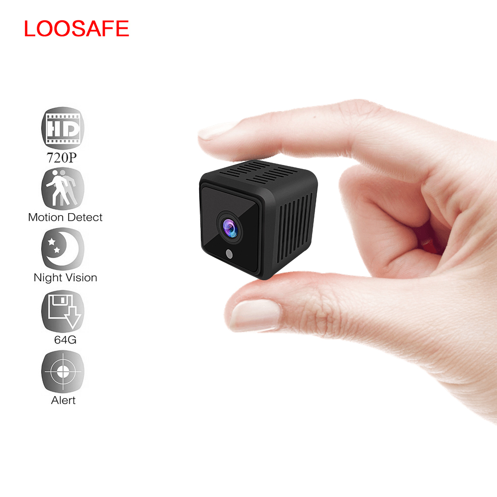 LOOSAFE Mini IP Camera Smart 720P HD Night Vision Small Camcorder Micro Onvif P2P Phone Remote Video Surveillance PTZ Camera