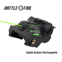 FDA Certified Tactical Compact Rechargeable Green Laser collimation Sight for Handgun Pistol Glock 17