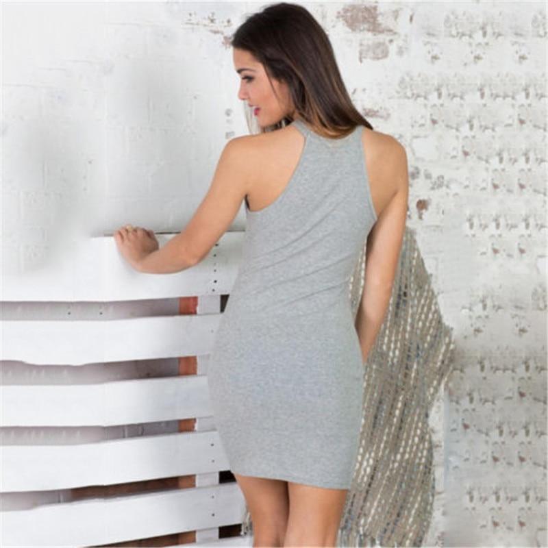 Women Solid Bandage Dress Bodycon Mini Sexy Club Dress 2016 Rayon ... 3f4b46275296