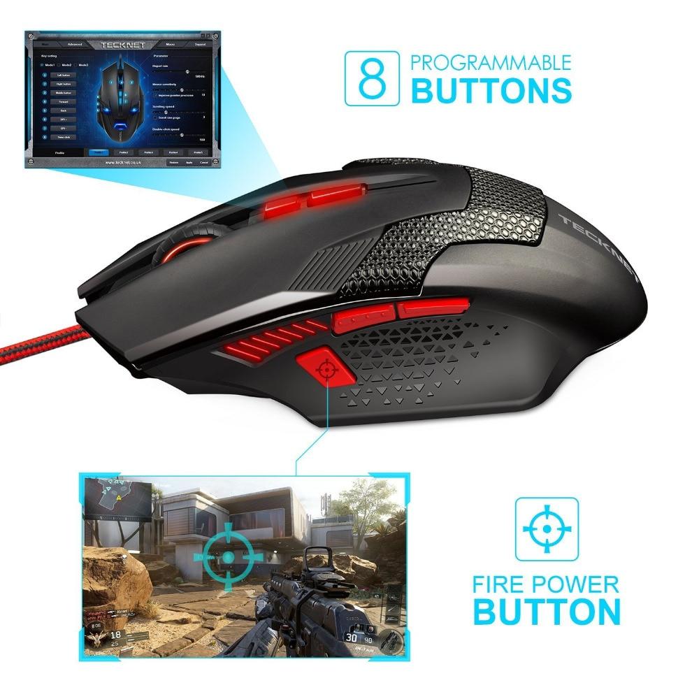 """""""TeckNet RAPTOR Pro"""" programuojama žaidimų pelė, 8 mygtukai, - Kompiuterių periferiniai įrenginiai - Nuotrauka 2"""