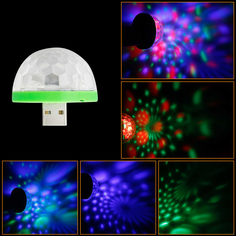3 Вт праздничные светодиодные лампы DJ Light RGB Изменение цвета реагирующий на звук кристалл магический мини-шар для дискотеки KTV Xmas Свадебная вечеринка звуковые огни