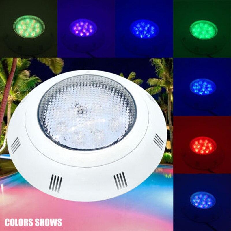 AC 12V 18W RGB Swimming Pool LED Light IP68 Waterproof Underwater Lamp + Control