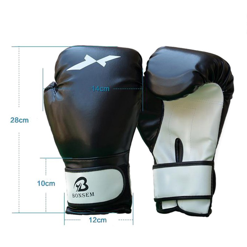 Professional Traning PU Leather Boxing Gloves Punching Mitten Muay Thai Boxing Gloves Equipment Boxer Accessory