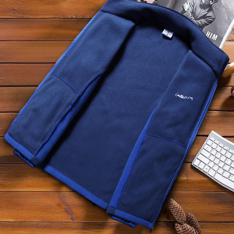 Image 5 - Fashion Mens Spring Jacket 2020 Autumn Stand Collar Homme Casual Jacket Men Thermal Fleece Male Coat Plus Size 6XL 7XL 8XL 9XLJackets   -