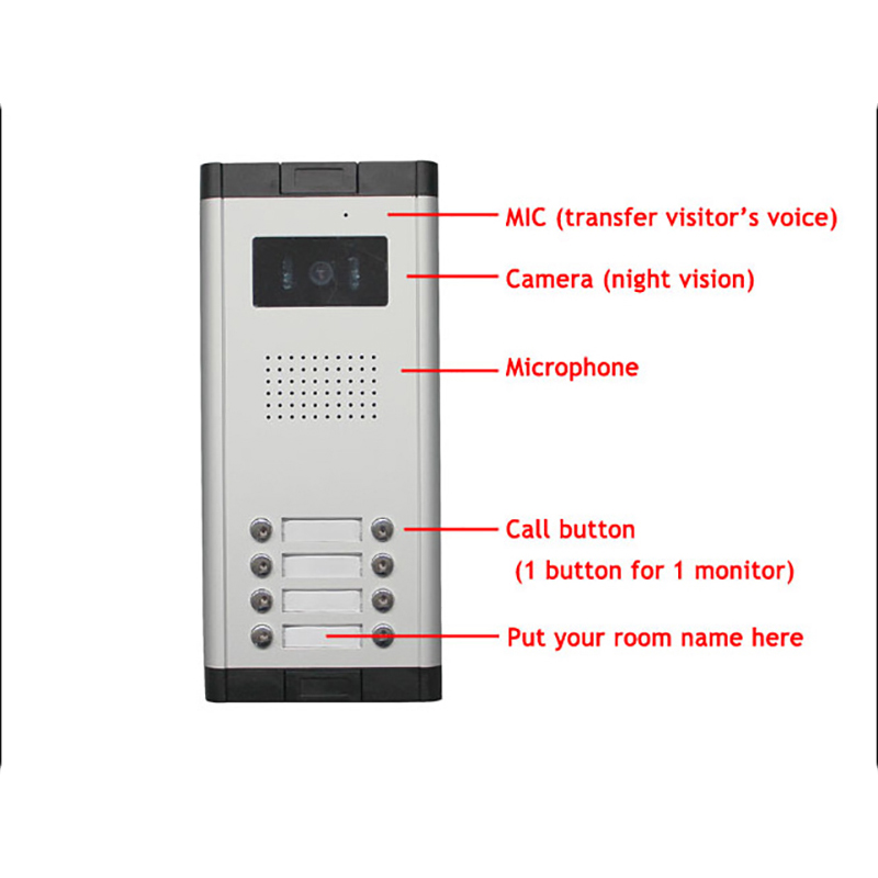 Apartment 2 Unit Intercom Entry System Wired Video Door Phone Audio