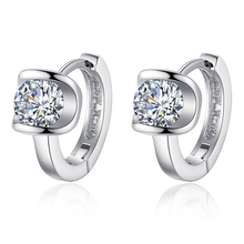 1ct Shiny CZ Earrings for Women Stylish Jewelry Solid 925 Sterling Silver Clip on Earrings Brilliant Round Shape Female Earrings цена