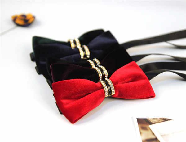 Новый черный/красный/фиолетовый/зеленый/синий сплошной цвет бабочка галстук-бабочка для свадьбы смокинг платье высококлассные мужские Мальчики и девочки унисекс галстук-бабочка