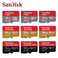 SanDisk Micro SD Card 16GB 32GB A1 MicroSDHC Scheda di Memoria 64GB 128GB 256GB 400GB microSDXC EXTREME PRO V30 U3 A2 4K UHD Carte di TF