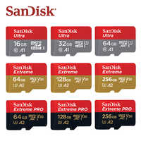 SanDisk Micro SD Karte 16GB 32GB A1 Microsdhc-speicherkarte 64GB 128GB 256GB 400GB microSDXC EXTREME PRO V30 U3 A2 4K UHD TF Karten