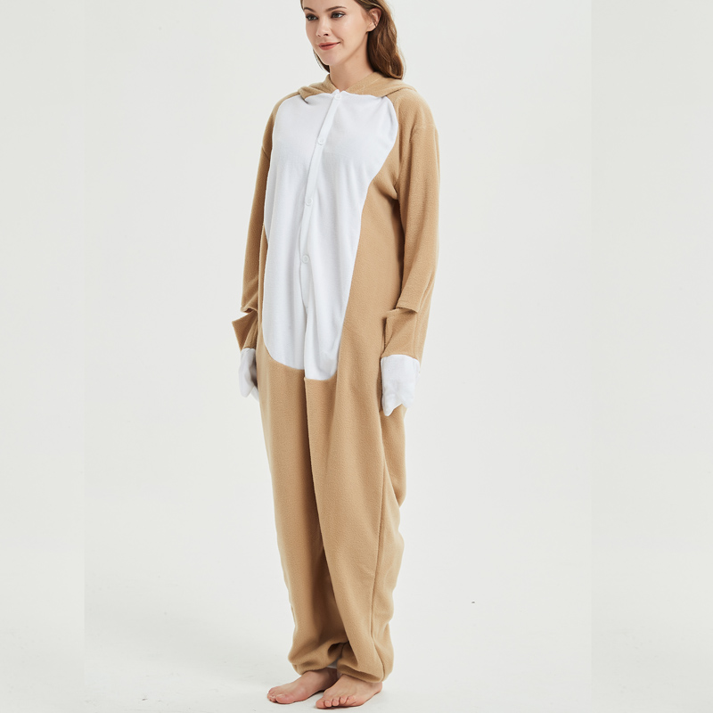 light brown sloth onesie