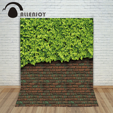 Allenjoy Background for font b photos b font Brick wall green leaves children s photographic font