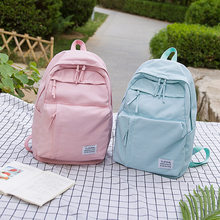 2a57fd0341f236 Large Leisure Backpack for Girls Teenage Pink Bag Pack Women College  Student Nylon Waterproof Backpack School