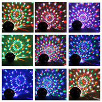 Stylish 20W DMX Voice Activated RGB LED Crystal Magic Ball Laser Light For Disco DJ Party