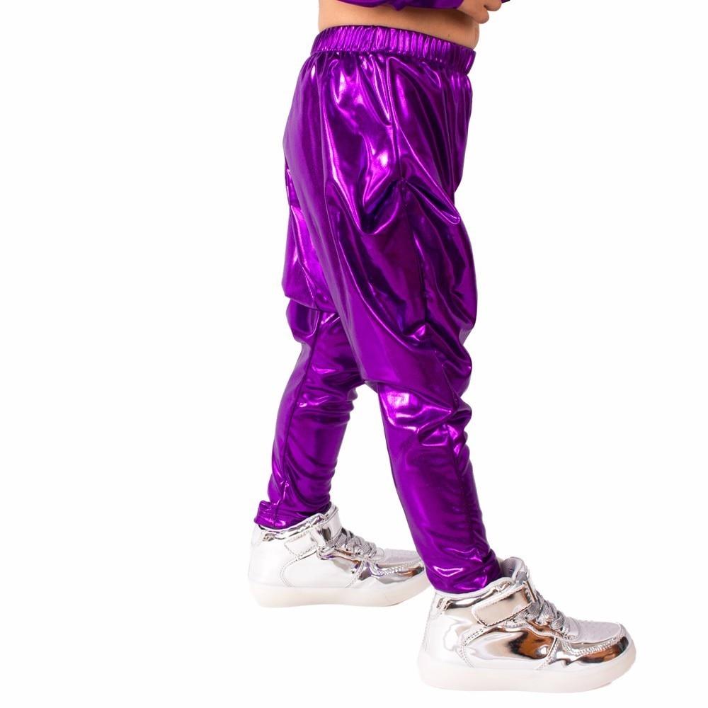 Heroprose 2018 New Fashion osobowość Fioletowe duże krocza spodnie - Ubrania dziecięce - Zdjęcie 4