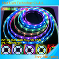 DC12V 5m 150LED IP67 waterproof 6803 IC SMD 5050 RGB dream magic color LED Strip