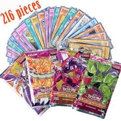 Yugioh 216 шт. набор с коробкой yu gi oh Аниме игровая коллекция карт дети мальчики игрушки для детей