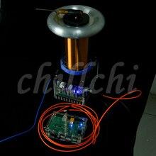 Drsstc de estado sólido tesla arc gerador ciência brinquedo presente mágico bobina tesla
