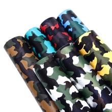 7 шт./компл. 20*34 см Bump текстура камуфляж синтетическая кожа набор ткань DIY одежды лук сумка домашняя текстильная отделка, 1Yc7306