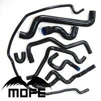 MOFE Original Logo 8PCS Silicone Heater Coolant Hose Kit For Saab 9 5 1999 2001 Green