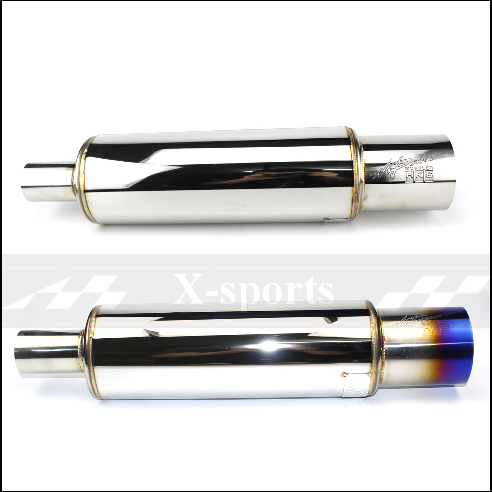 Car Exhaust Systems Muffler Tail Pipe High Quality Universal Stainless Steel 2inches 2.5inches 2 Color Auto Accessories Mufflers