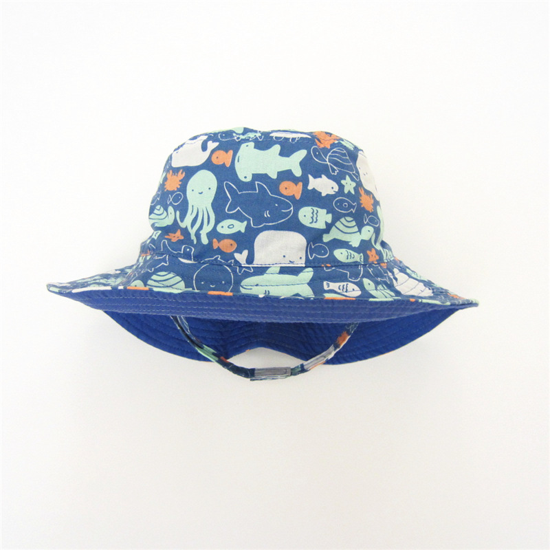 Baby Täglichen Eimer Hut Blau Neueste Marke Häkeln Kinder Sommer