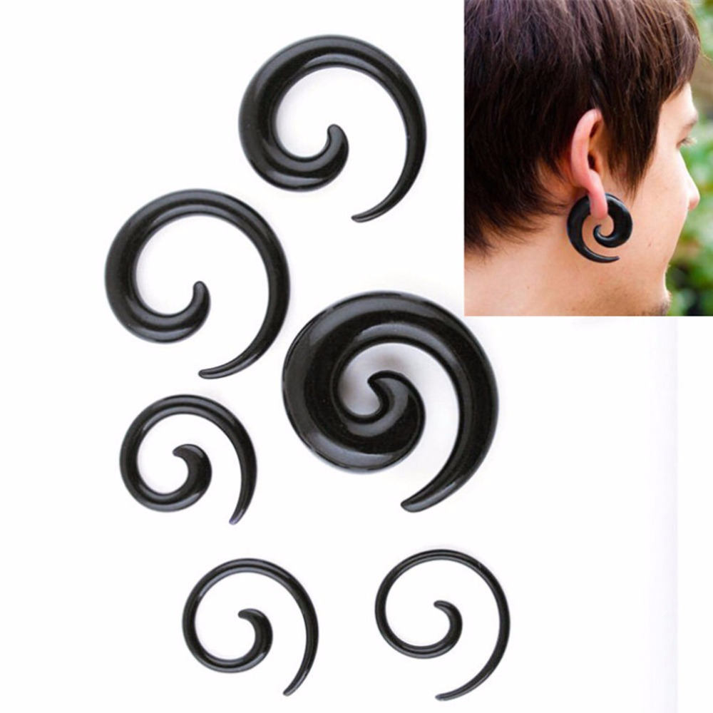 1pair Fashion Jewelry Cool Man Stud Earrings Earring For Men One Piece S Black Mens Anti Allergy New In From