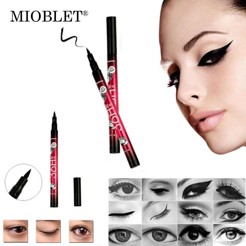 MIOBLET 2017 Nuevo Lápiz Delineador de ojos Negro de Larga Duración Maquillaje Líquido Impermeable Belleza Natural Eyes Pen Eye Liner Lápiz Cosméticos