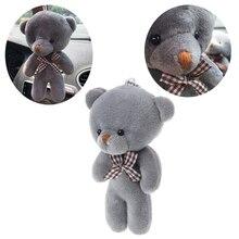 Автомобиль-Стайлинг 12 см мини медведь плюшевая игрушка кукла подвеска аксессуар Свадебные подарки брелок плюшевые игрушки для автомобиля украшения