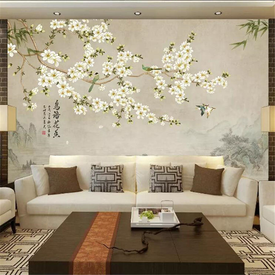 Beibehang Wall Papers Home Decor New Chinese Papel Mural Minimalist Living Room Bedroom Sofa Background Ink Landscape Wallpaper Home Improvement