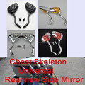 Motorcycle Ghost Skeleton Universal Scooter Rearview Side Mirror 8MM 10MM fits for Harley Honda Suzuki Ducati Aprilia etc.Custom