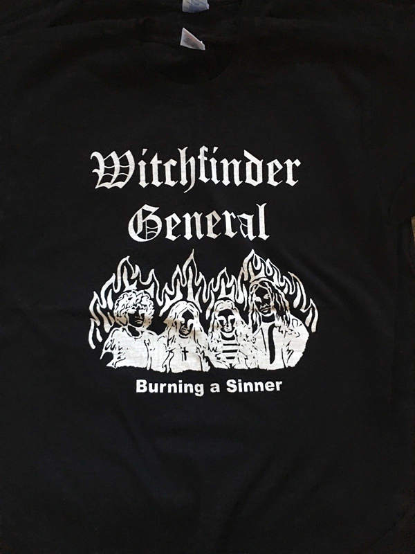 Funny Print Tops MenS Witchfinder General Band Burning A Sinner Crew Neck New Style Short Sleeve Tee Shirt