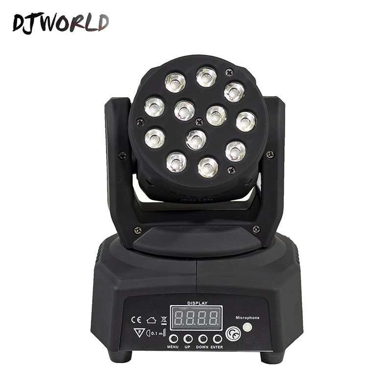 все цены на Mini LED 12x3W RGBW Moving Head In Black Body Lighting DMX 512 Stage Effect Professional For KTV DJ Disco Party Sound Action онлайн