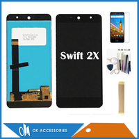 100% Tested 5.2 For Wileyfox Swift 2X LCD Display Touch Screen Digitizer Assembly Black White Color With Tools Tape