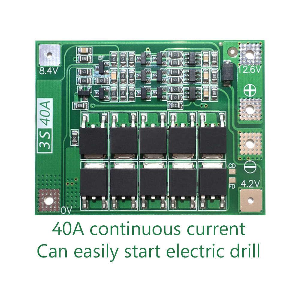 3S 40A リチウムイオンリチウムリポバッテリー 18650 充電器保護ボード BMS PCB 11.1V 12.6V 携帯充電保護モジュールいいえバランス