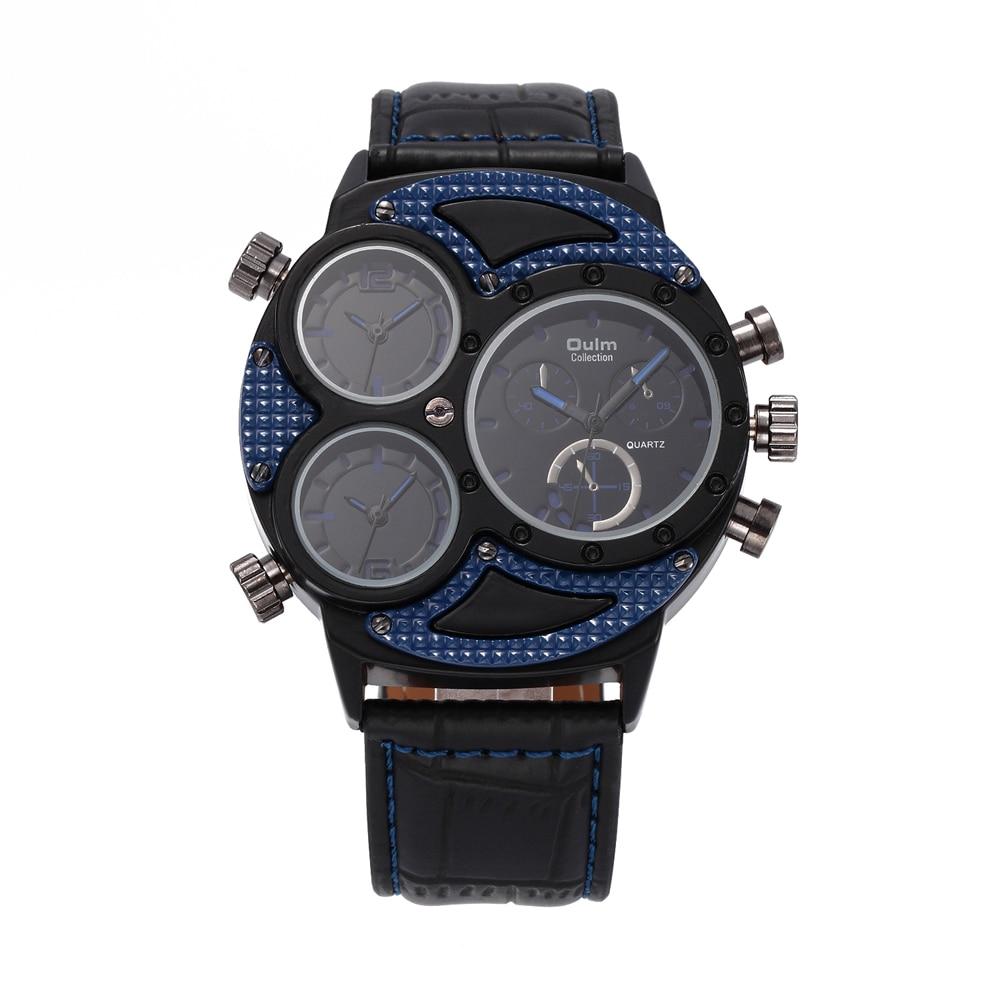 2016 Oulm luxe merk HP3594-2 herenhorloge meerdere tijdzone horloges - Herenhorloges