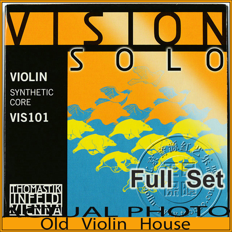 Original Thomastik Vision Solo 4/4 Violin Strings(VIS101) Set Med Silver-D, full set,made in Austria ,Free shipping original savarez 500cj classical guitar strings full set nylon strings high tension free shipping