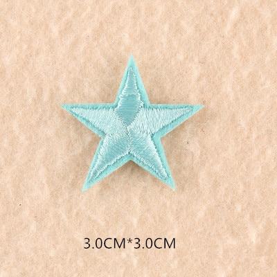 1 шт. смешанные нашивки со звездами для одежды, железная вышитая аппликация, милая нашивка эмблема на ткани, одежда, аксессуары для одежды DIY 61 - Цвет: 61K