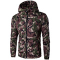 Big Size M-5XL Male Jacket Fashion camouflage Zipper O-neck Mens Clothes Spring  and Autumn Slim fit Outwear Casual Coat 14JK87