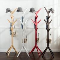 8 Hooks Fashion Furniture Solid Wood Living Room Coat Rack Display Stands Hanging Scarves Hats Bags Clothes Shelf