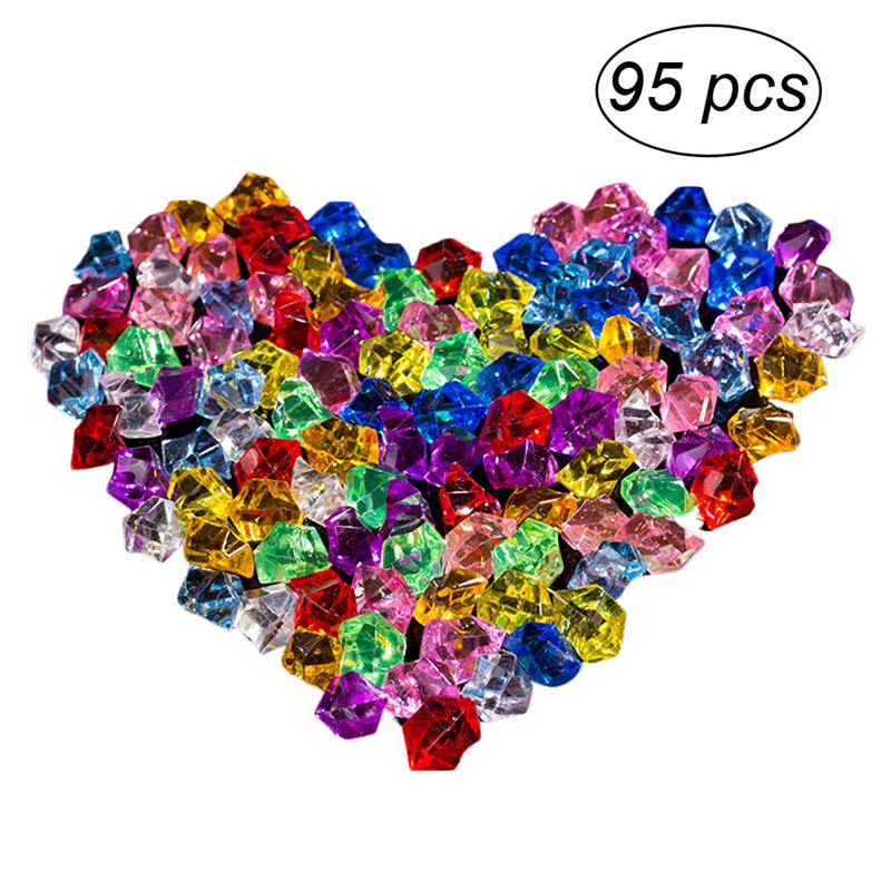 WINOMO 95pcs/lot Acrylic Crystal Crafts Stone Colorful Rock For Home Wedding Christmas Decorations