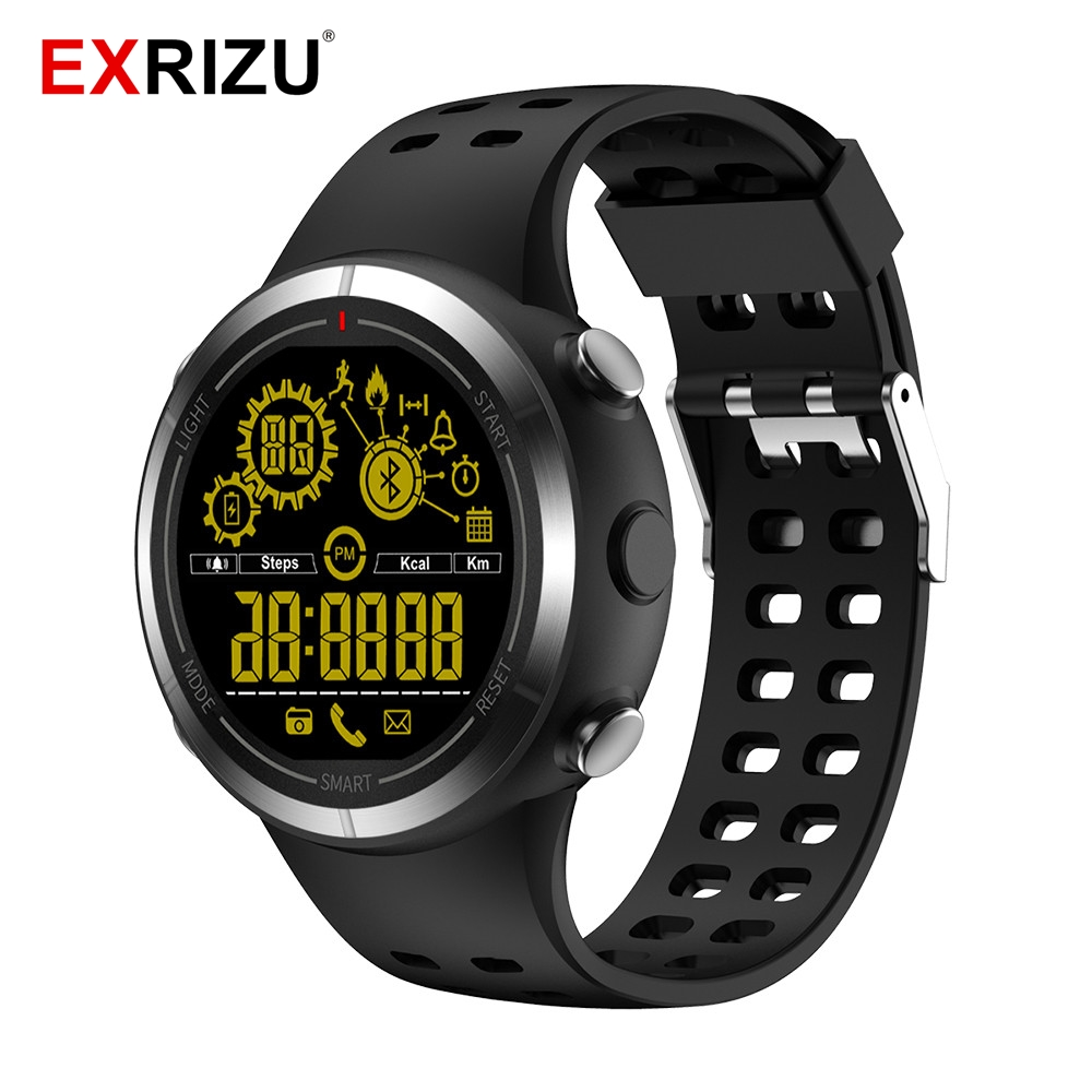 все цены на EXRIZU EX32 Waterproof IP68 Bluetooth 4.0 Smart Sport Watch Stopwatch Wristwatch Pedometer LONG STANDBY TIME 2 YEARS Smartwatch