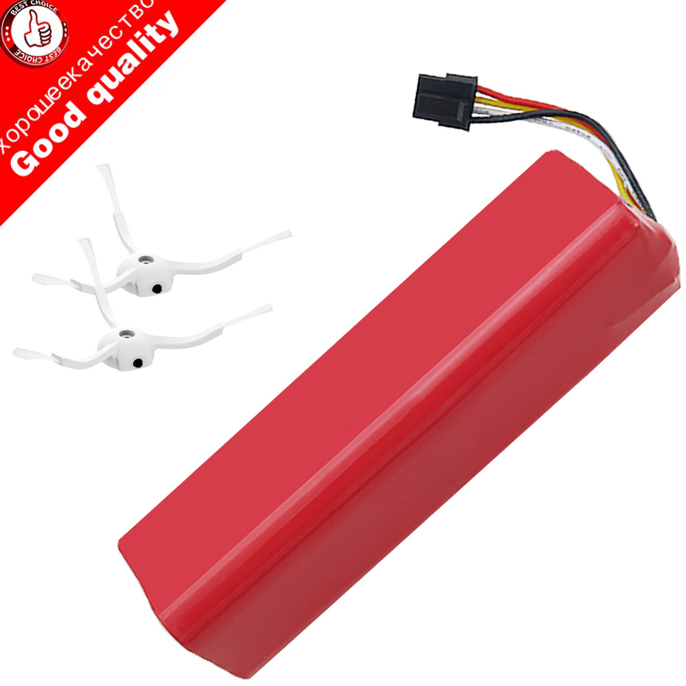 5200mAh li-ion 18650 robot Vacuum Cleaner accessories battery for xiaomi mi roborock S50 S51 robot Robotics cleaner 2pcs brush vacum cleaner spare parts for mi robot caster assembly front caster wheel for xiaomi vacuum roborock s50 s51 cleaner