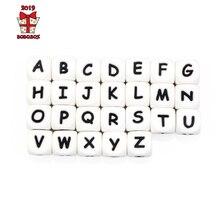 BOBO. BOX 10 шт силиконовый Английский алфавит бисер буквенный материал, не содержащий BPA для DIY ребенка Прорезывания Зубов Ожерелье ребенка прорезыватель