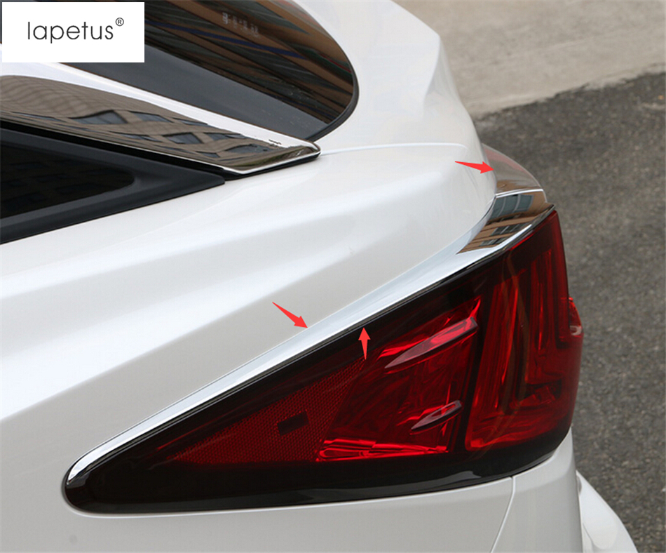 Accessories For Lexus RX200T RX450H 2016 2017 Tail Rear Trunk Light Lamp Eyebrows Eyelid Bezel Decoration Molding Cover Kit Trim