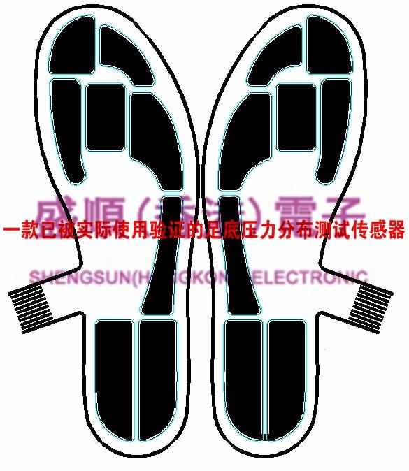 Piezoresistive Flexible Foot Pressure Sensor Large Area Gait Analysis SensorProduct Description This Is A Customized Product. Al