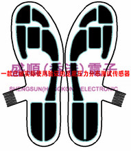 Piezoresistive flexible foot pressure sensor large area Gait analysis sensorProduct description This is a customized product. Al flexible thin film pressure sensor foot pressure sensor distributed array large area
